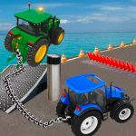 Chained Tractor Towing Simulator